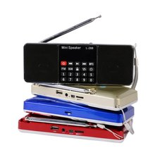 L-288 Portable FM Radio Stereo Speaker MP3 Music Player Double Loudspeaker with TF Card USB Disk Input Gift For Parents