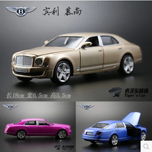 Bentley Mulsanne 1:32 Simulation alloy car model Flashing Pull back kids toys Luxury cars Champagne Gold brain game