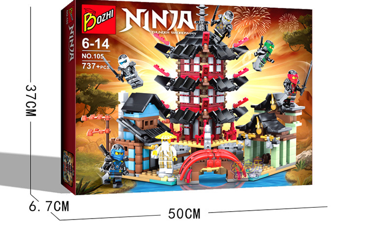Ninja Temple of Airjitzu NinjaSmaller Version Bozhi 737 pcs Blocks Set  Toys for Kids Building Bricks<br><br>Aliexpress