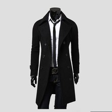 2018 New Arrival Autumn Trench Coat Men Jacket Brand Clothing Fashion Mens Long Coat Top Quality Cotton Male Overcoat M-3XL(China)