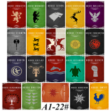 A1-22# Series 3 Game of Thrones 20/pcs Stickers Various shapes Creative design Doodle Stickers(China)