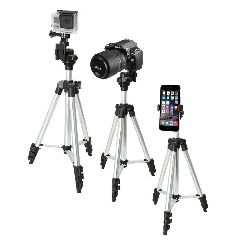 Aishanghuayi Mobile Phone Holder Compatible With 4-6.5-inch Smart Phone Camera Tripod Expandable With Mobile Phone Clip-on Installation Remote Self-timer Recording Video Tripod Flat Micro-sLR Came