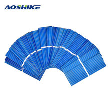 Aoshike 100pcs 0.5 V Solar Panel 52x19mm Polycrystalline Silicon Photovoltaic Solar Panels Sunpower Cells DIY Cell Phone Charger(China)