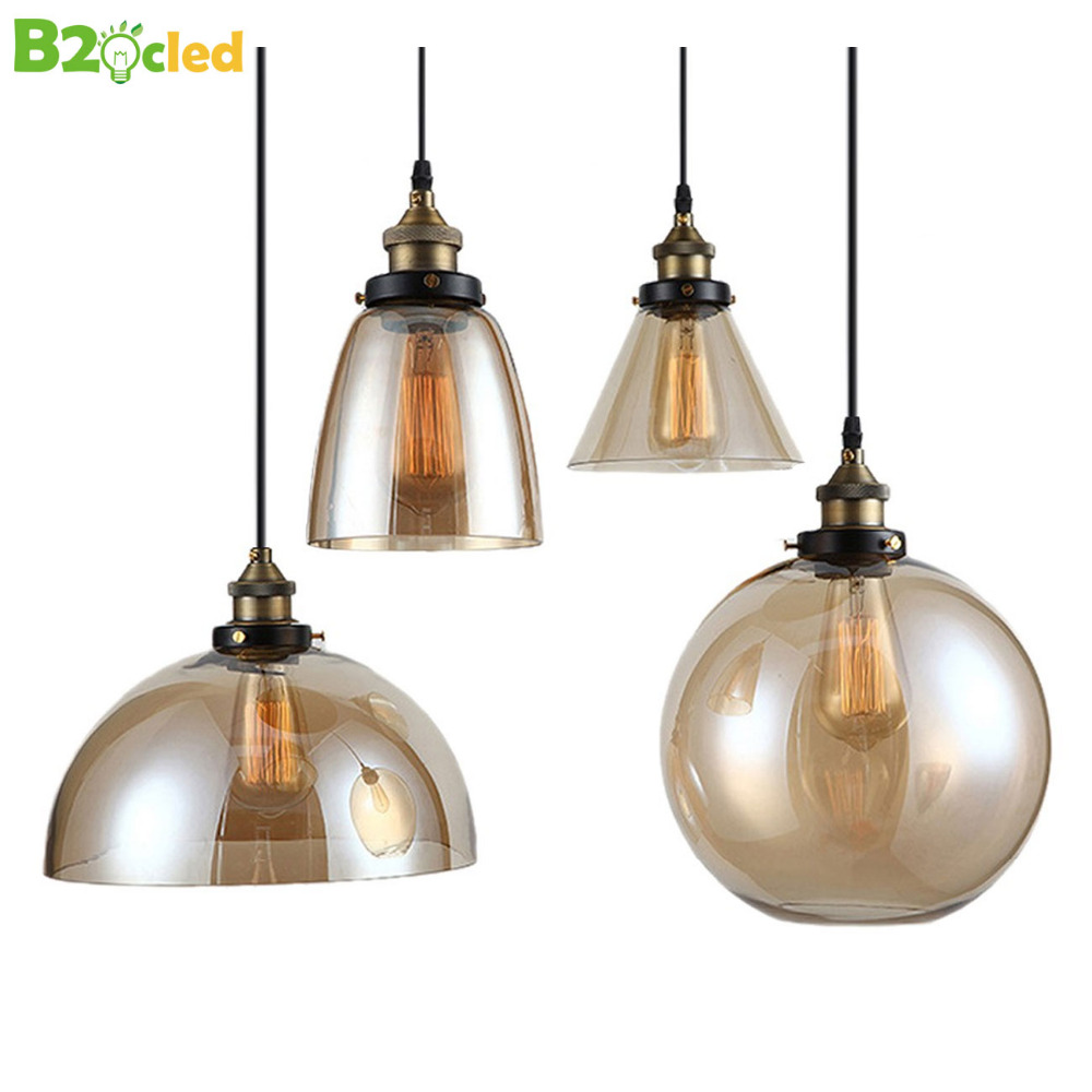 Modern Vintage Crystal Glass Pendant Chandelier Lamp E27 LED bulbs  light Bar Cafe Bedroom American Country Style<br>