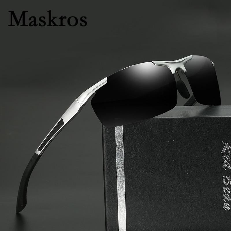 Maskros Aluminum Magnesium HD Polarized Mens Sunglasses Men Coating Uv400 Polarizing Sun Glasses for Male Driving Man Fishing<br><br>Aliexpress