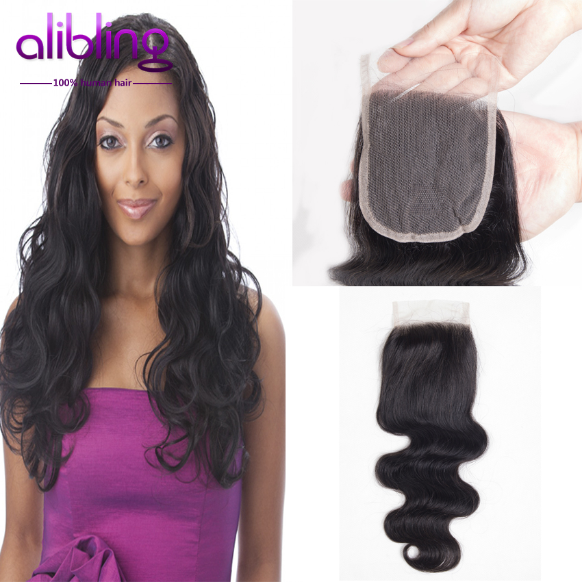 7a Peruvian Virgin Hair Body Wave 4*4 Closure 1 Piece Lace Closure 8-20 Available Color 1 None Chemical Processing Hair Wavy <br><br>Aliexpress