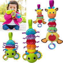 Baby Infant Rattles Plush Animal Stroller Music Hanging Bell Toy Doll Soft Bed Infant Children Kids Boys Girls Toys Gifts