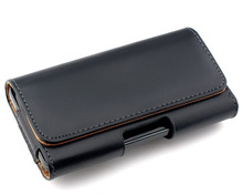 New Smooth/Lichee Pattern Leather Pouch Belt Clip Bag for iMan Victor Phone Cases Cell Phone Accessory