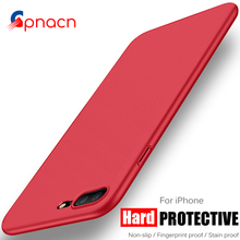 Fashion Hard Matte Case For iPhone 8 7 Plus Cases 6 6S Plus For iPhone 7 Case Plus 360 Full Cover Plastic Phone Cover P35(China)