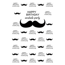 Laeacco Happy Birthday Party Mustache Little Man Baby Child Portrait Photographic Backgrounds Photo Backdrops For Photo Studio(China)
