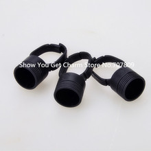 30pcs Black Tattoo Ink Color Ring & Finger Rings holders  for Permanent Makeup Supply