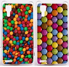 New Arrival M&M's Chocolate Candies Style Design Pattern Hard Black Cover Cases For Lenovo P780 Phone Shell