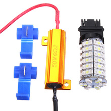 Lowest Price T25 3157 Dual Color Switchback White Amber 120 LED Car Auto Light Lamp Bulbs with Resistors
