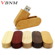 VBNM promotion USB 2.0 Wooden bamboo USB flash drive pen driver wood chips pendrive 4GB 8GB 16GB 32GB USB creativo personal LOGO(China)