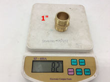 "Free Shipping Double Male 1"" Brass Coupling Fittings Equal M1""Double Nipples Fittings Copper"