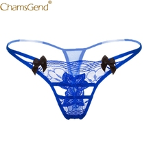 Buy Chamsgend Intimates Sexy Underwear Women Hot G String Lace Lingerie Hollow Thongs Underpants Bowknot 80111