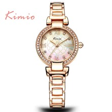 TG121 Multicolorful Face KIMIO Roman Numerals Long Lasting Battery Alloy Lady Classic Watch