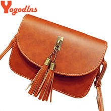 Yogodlns 2017 Vintage Fashion shaping bag Small handbag mini messenger bag Women's handbag Tassel Flap bag Leather Women Handbag