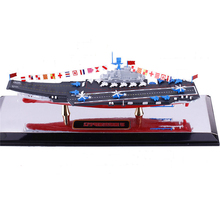 1:1000 Chinese Aircraft Carrier Liaoning 1/1000 Alloy Diecast Static Sea Military Model boat collection baby toys(China)