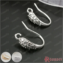 (28034)10PCS Height 15MM Antique Silver Brass Earring Hook Diy Jewelry Findings Accessories Wholesale(China)