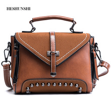 HESHUNSHI Fashion Women Leather Handbag Mobile Phone Messenger Handbag High Quality Willow Staple Cross The Diagonal Cross(China)