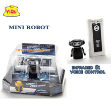 New remote control & sound control robot mini intelligent robot RC Robot Toys USB charging new box best Christmas gift