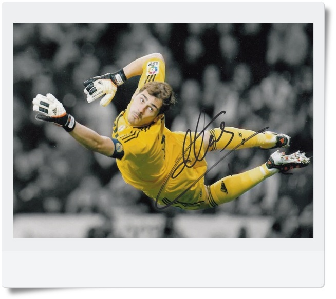 signed Iker Casillas autographed  original photo  7 inches freeshipping  062017   <br>