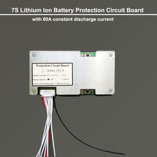 7S Lithium Ion battery BMS board Max 60A constant discharge current for converter and 29.4V  PCB circuit board of 18650 Battery