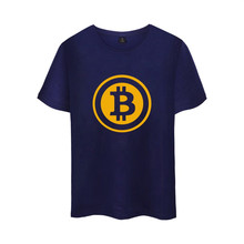 Digital currency Bitcoin Logo Cotton T-shirt Tee SHIRT t shirt Short Sleeve Sleeve Men Women Funny Tee Prevailing bitcoin logo(China)