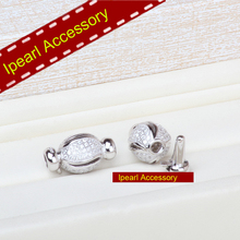 Delicate&Shinning Sweater Necklace Clasps S925 Sterling Silver Material Clasps Accessory DIY Jewelry Components(China)