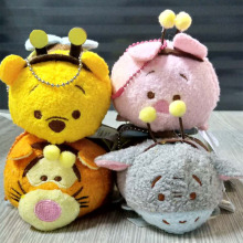 TSUM TSUM Plush Toy Candy Tsum Limited Set Tigger Piglet Eeyore Bee Kawaii Phone Screen Cleaner for Phone pendant keychain(China)