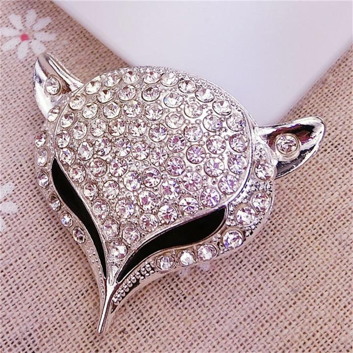 7  Fox Headed Rhinestone Jewelry Findings Alloy Handmade Craft For Bracelet Necklace Jewelry Making Decor Diy Accessories