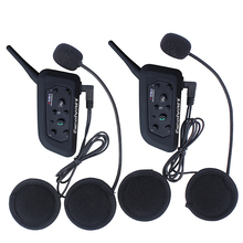 Paired V6 Bluetooth Intercom BT Multi Interphone Motorcycle Wireless Headphones Accessories 1200M Helmet Headset 6 Riders(China)