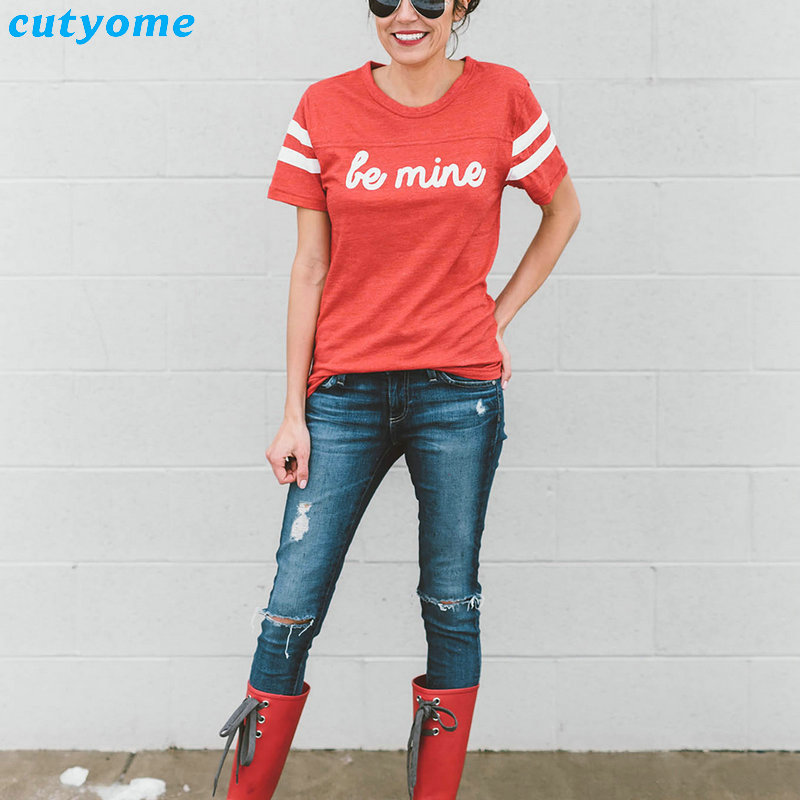 Mother And Daughter Son Clothes Family Matching Clothing BE MINE Short Sleeve T-Shirts Mom Daughter Matching Outfits Tee Shirts (5)