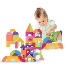 50pcs Baby Ultra-light Building Blocks Set Toys Colorful EVA Foam Bricks Set Kids Children Soft Educational Toy Gift for Kids(China)