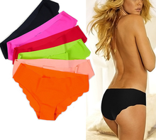 Wholesale MIX color Famous Brand DuPont Fabric Ultra-thin Comfort Underwear women Seamless Panties no trace Briefs