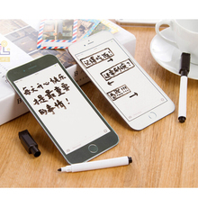 Creative Fridge Magnet For iPhone6 plus model Magnetic Whiteboard/Memo Pad/Message Board Refrigerator Magnets Home Decoration(China)