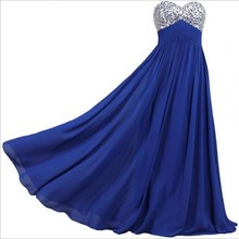 Beautiful Crystal Body Chiffon Long A Line Evening Dresses Cheap Price Formal Women Prom Party Gowns Lace Up Back Vestido De