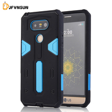 For LG G5 Case NEW Hybrid TPU+PC Hard Plastic Armor Case For LG G5 HOT Slim Dual Color Rubber Dustproof plug Phone Back Covers