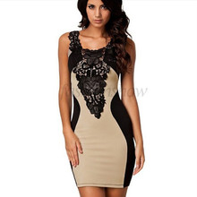 Dress 5 Colors 2017 New Black Embroidery Bodycon Women Summer Dress Sexy Bodycon Bandage Casual Club Party Dresses Plus Size