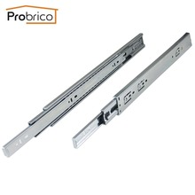"Probrico 1 Pair 18"" Soft Close Ball Bearing Drawer Rail Heavy Duty Rear/Side Mount Kitchen Furniture Drawer Slide DSHH32-18A(China)"