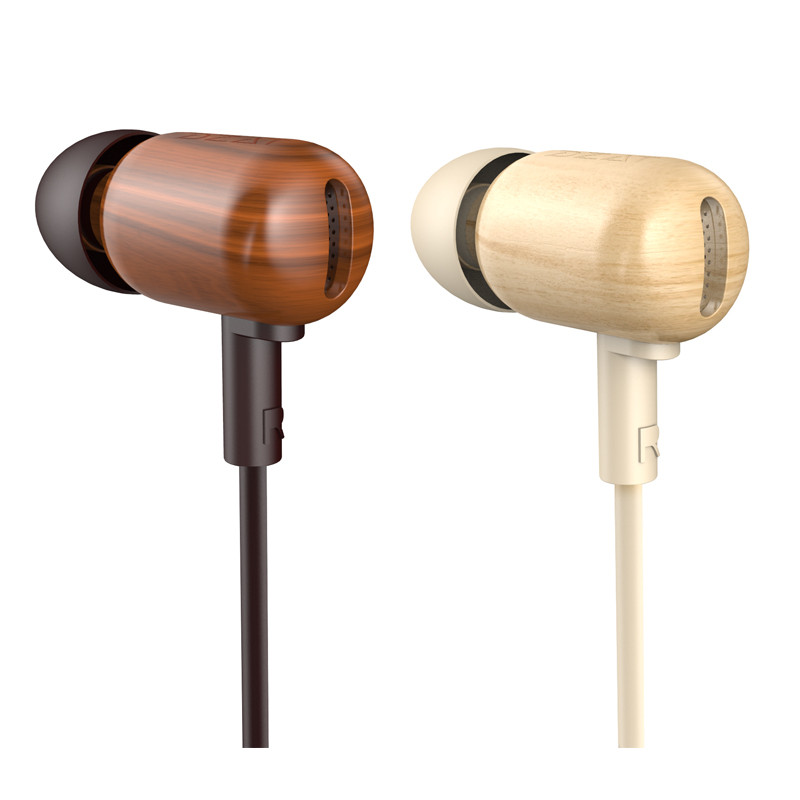 Original DZAT DF-10 3.5mm In Ear Earphone Wooden Fever DIY Bass HiFi DJ Earphones With Mic Music for iPhone Xiaomi Note 2 Mobile<br><br>Aliexpress