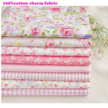 New 8pc Pink50*50cm Pink  Remnant Cloth Fabric Cotton Fabric Charm Packs Patchwork Fabric Quilting Tilda Creative Design,Felt