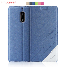 Original Tscase for Nokia 6 Case Cover Magnetic Flip PU Leather + Soft TPU Back Cover for Nokia 6 Case Stand Protective Shield(China)
