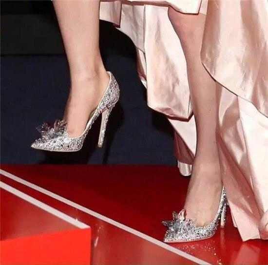 Fashion Cinderella Crystal Shoes Woman Stiletto High Heels Women Pumps Rhinestone Women Wedding Shoes Slipper Zapatos Mujer (1)