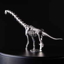 High-quality 3D Metal Model Wan Dragon Finished Product No Assembly Toys Collection Home Furnishing Desktop With Display Box(China)