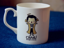 New Quality Bone China Coffee Mug Cup SuperNatural Cartoon Castiel An angel of the lord ---Loveful