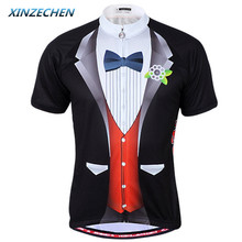 XINZECHEN Men's Cycling Clothing Gentleman Shirt Summer Style Bike Bicycle Jersey Top Outdoor Sportwear - World Store store