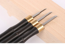1/2/3mm High Speed Steel Wood Carving Hand Chisel Woodworking Tool Set Ebony Handle Woodworkers Tools With Canvas Bag(China)