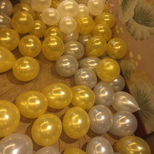 50pcs/lot 10inch 1.5g pearl balloon Golden Silver White balloon Wedding Birthday Party decoration Circle balloon globos(China)
